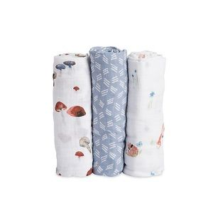 Set of 3 Little Unicorn Muslin Swaddles - OS
